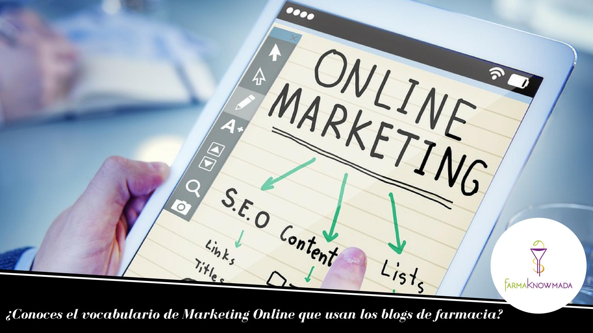 vocabulario marketing online farmacia