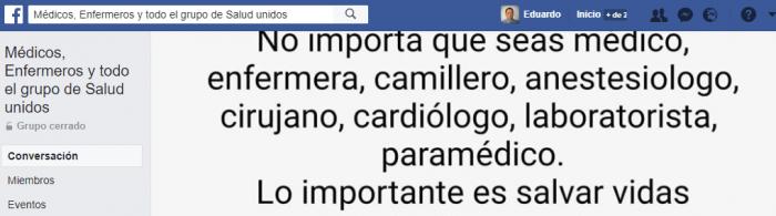 grupos de facebook salud