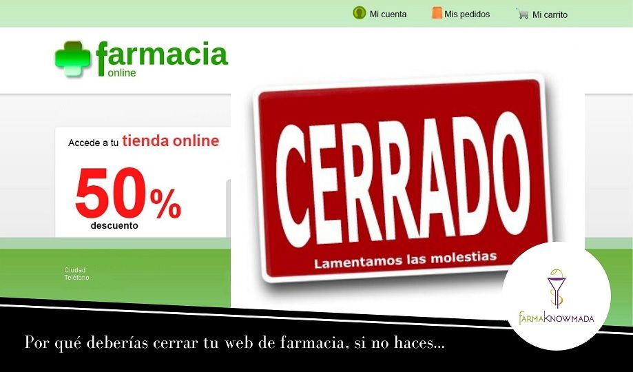web farmacia cerrar