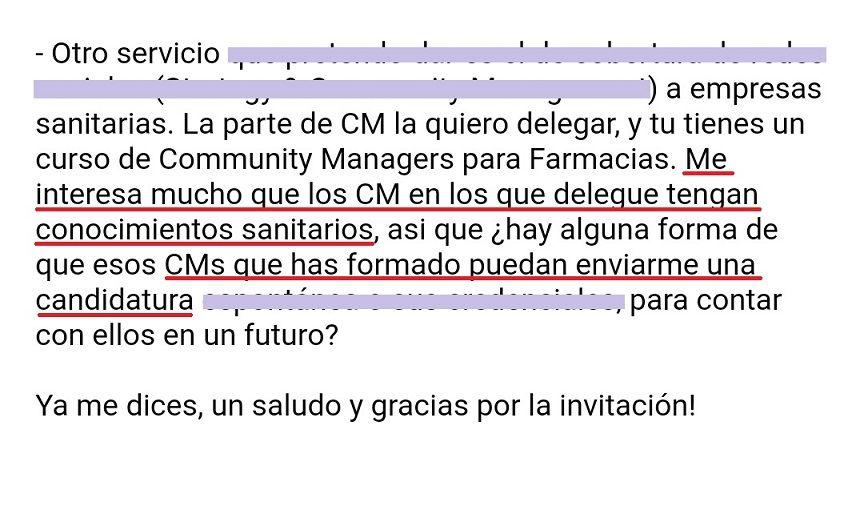 curso community manager farmacia bolsa de trabajo